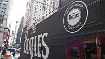 The Beatles Double Decker Pop-up Bus